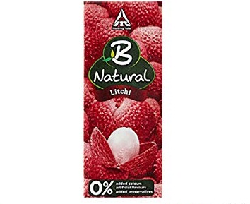B NATURAL LICHI JUICE 20/- BOX-30Pcs
