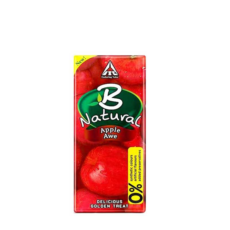 B NATURAL APPLE JUICE 20/- BOX-30Pcs